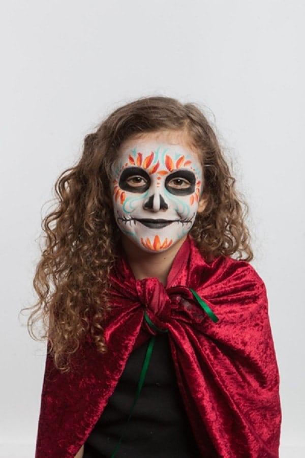 tuto maquillage sorcière Halloween enfant