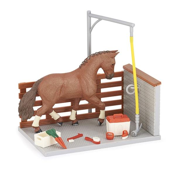 cheval et aire de douche Papo