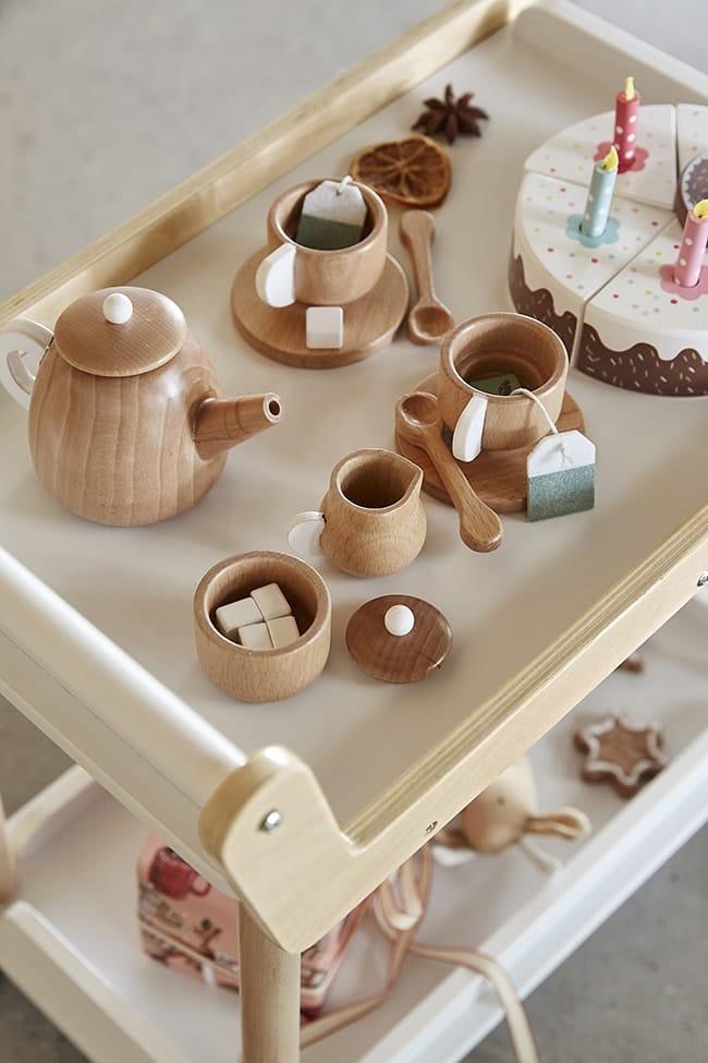 service à thé en bois enfant Vertbaudet