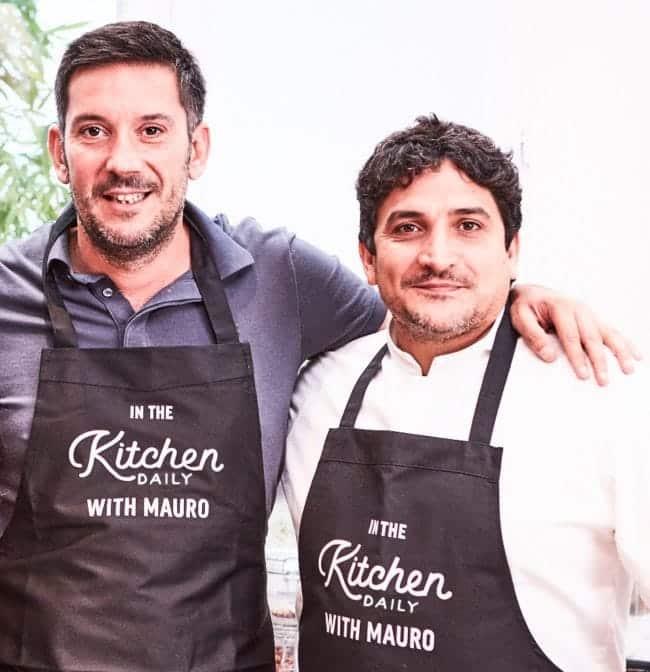 Vincent, fondateur de Kitchen Daily et le chef Mauro Coagreco
