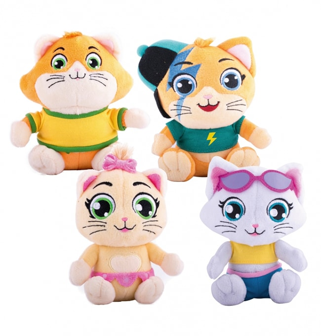 44 chats peluches