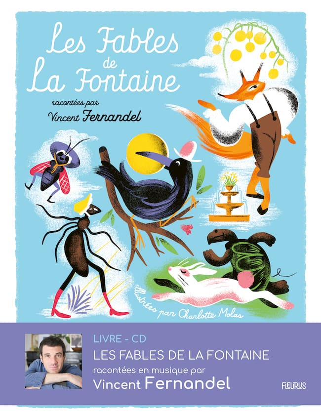 Les fables de la fontaine audio couverture
