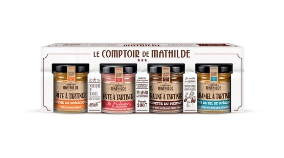 coffret mini pâtes à tartiner Comptoir de Mathilde