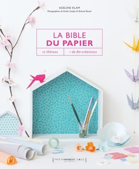 livre DIY la bible du papier Marabout
