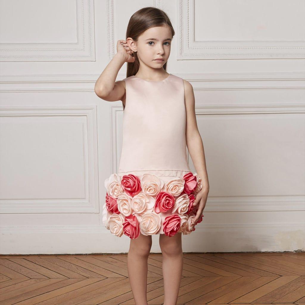 robe de cérémonie enfant fille satin