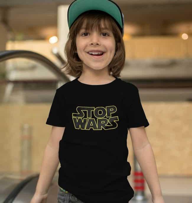 tenues assorties famille t-shirt Stop Wars