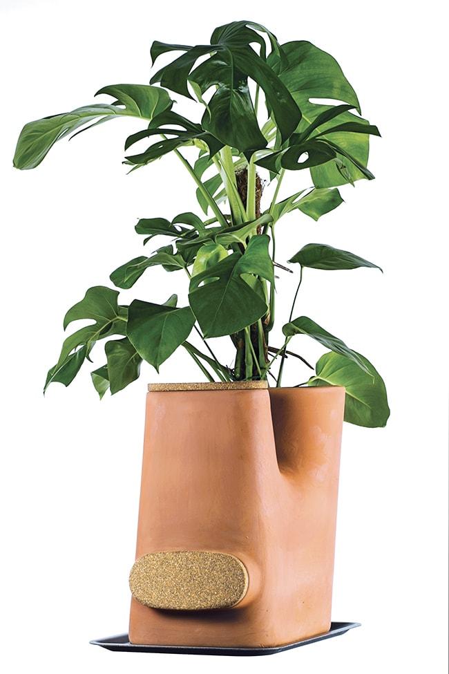 pot de fleurs composteur