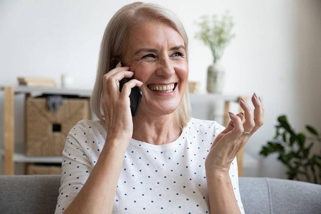 téléphone à clapet senior